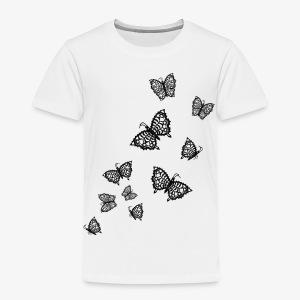 Schwarze Schmetterlinge Baby Body weiss - Kinder Premium T-Shirt