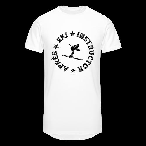 Après-Ski Instructor T-Shirt (Distressed Black) - Männer Urban Longshirt
