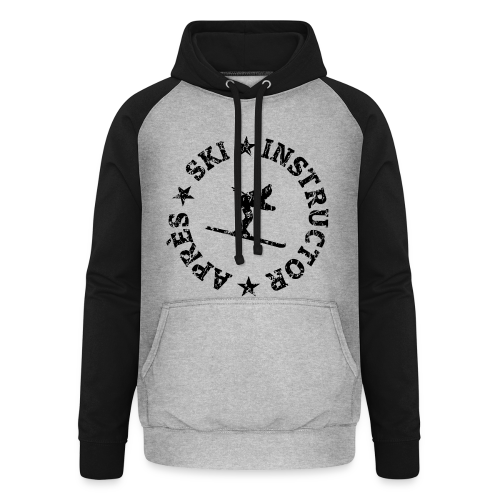 Après-Ski Instructor T-Shirt (Distressed Black) - Unisex Baseball Hoodie