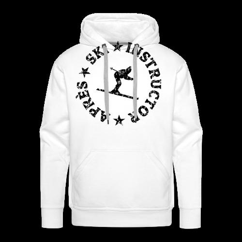 Après-Ski Instructor T-Shirt (Distressed Black) - Männer Premium Hoodie