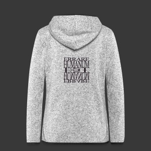ERRARE HUMANUM EST - Women's Hooded Fleece Jacket