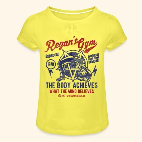 Regan's Gym - Mädchen-T-Shirt mit Raffungen