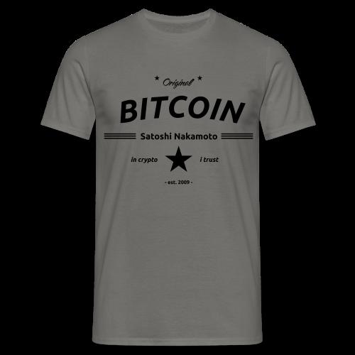 in crypto i trust Satoshi Nakomaoto BTC Bitcoin Ƀ T-Shirts - Männer T-Shirt