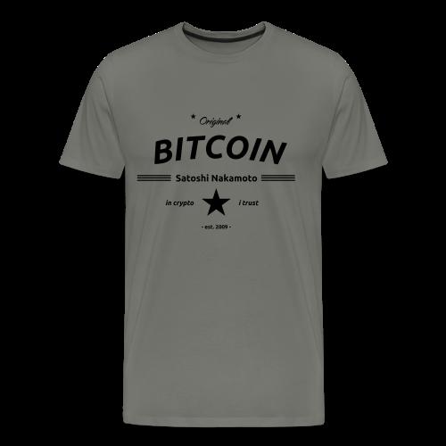 in crypto i trust Satoshi Nakomaoto BTC Bitcoin Ƀ T-Shirts - Männer Premium T-Shirt