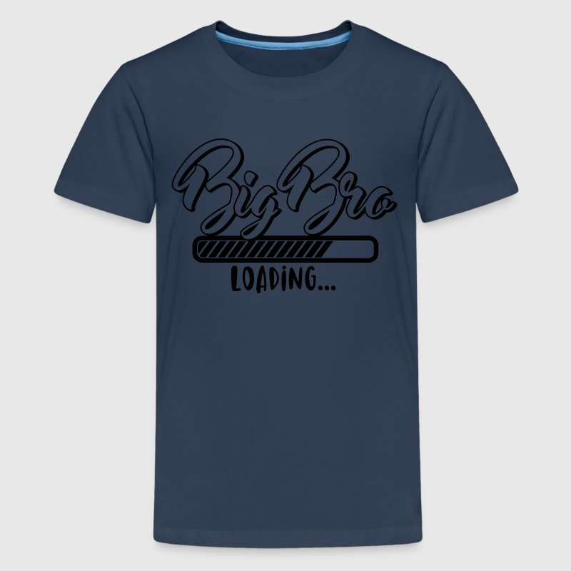 Lastning big BRO - storebror belastninger - baby T-shirts - Teenager premium T-shirt