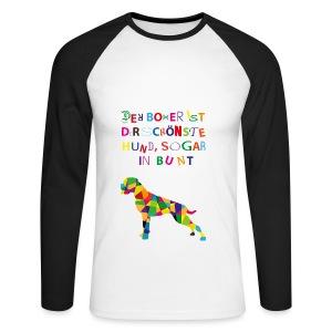 Für Boxerkinder - Männer Baseballshirt langarm