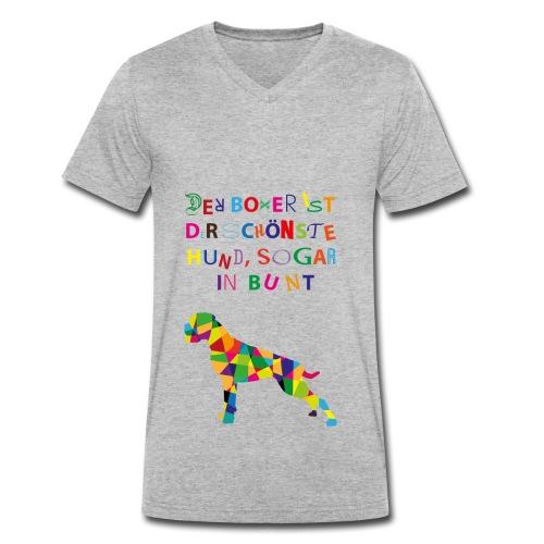 Für Boxerkinder - Männer Bio-T-Shirt mit V-Ausschnitt von Stanley & Stella