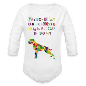 Für Boxerkinder - Baby Bio-Langarm-Body