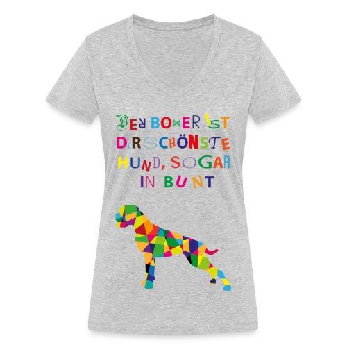 Für Boxerkinder - Frauen Bio-T-Shirt mit V-Ausschnitt von Stanley & Stella