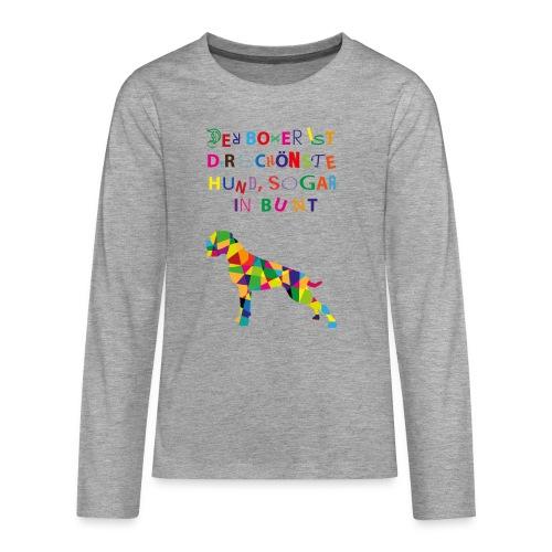 Für Boxerkinder - Teenager Premium Langarmshirt