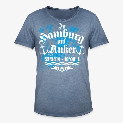 In HAMBURG auf Anker Koordinaten Männer T-Shirt - Männer Vintage T-Shirt