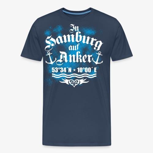 In HAMBURG auf Anker Koordinaten Männer T-Shirt - Männer Premium T-Shirt