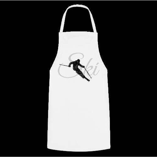 Ski Skifahrer Skifahren T-Shirt (Schwarz/Grau) - Kochschürze