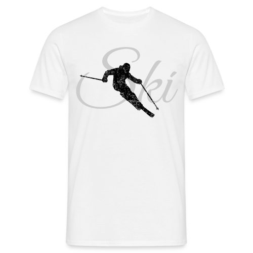 Ski Skifahrer Skifahren T-Shirt (Schwarz/Grau) - Männer T-Shirt