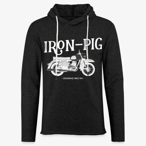 Iron Pig - Leichtes Kapuzensweatshirt Unisex