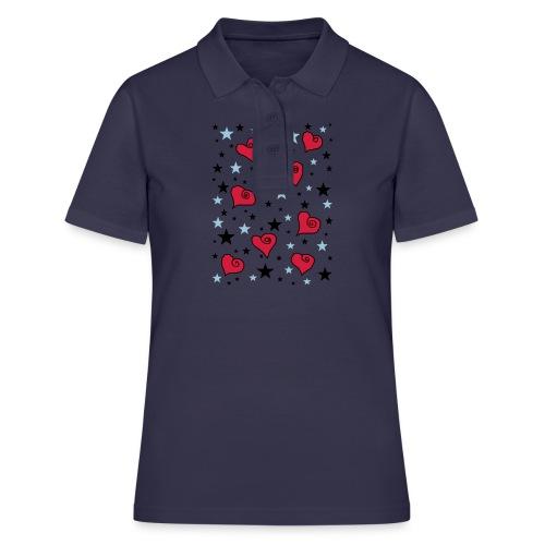 Sterne und Herzen - Frauen Polo Shirt
