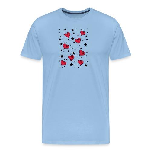 Sterne und Herzen - Männer Premium T-Shirt