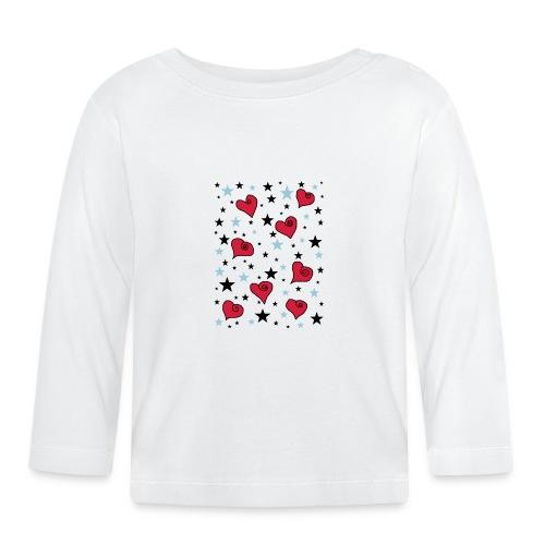 Sterne und Herzen - Baby Langarmshirt