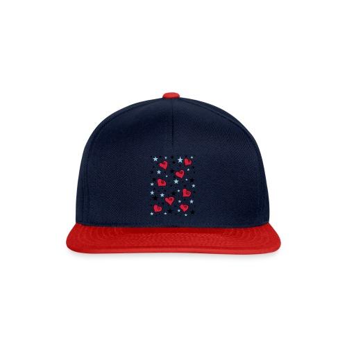 Sterne und Herzen - Snapback Cap