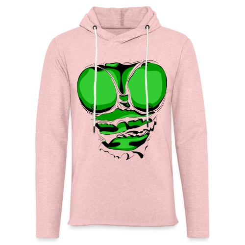Ripped Muscles Green, six pack, chest T-shirt - Light Unisex Sweatshirt Hoodie