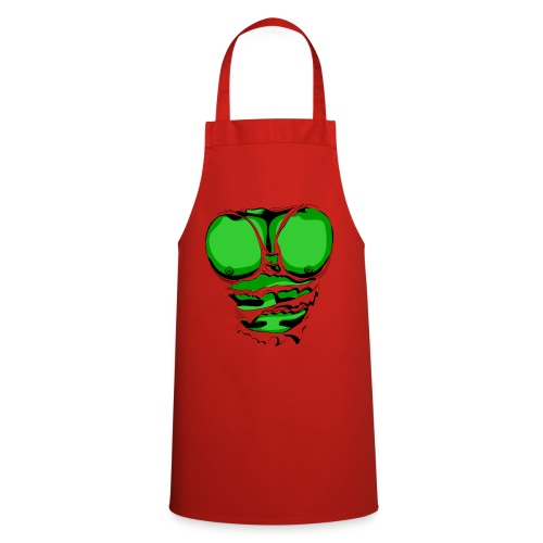 Ripped Muscles Green, six pack, chest T-shirt - Cooking Apron