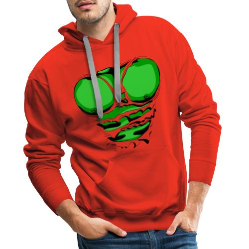 Ripped Muscles Green, six pack, chest T-shirt - Men's Premium Hoodie