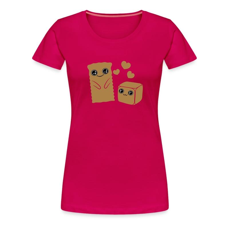 Spekulatius loves Domino - Frauen Premium T-Shirt