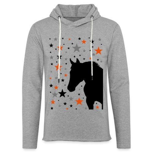 Pferd und Sterne-1 - Leichtes Kapuzensweatshirt Unisex