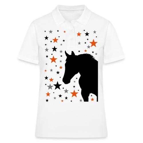 Pferd und Sterne-1 - Frauen Polo Shirt
