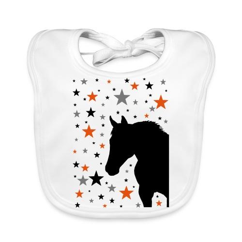 Pferd und Sterne-1 - Baby Bio-Lätzchen