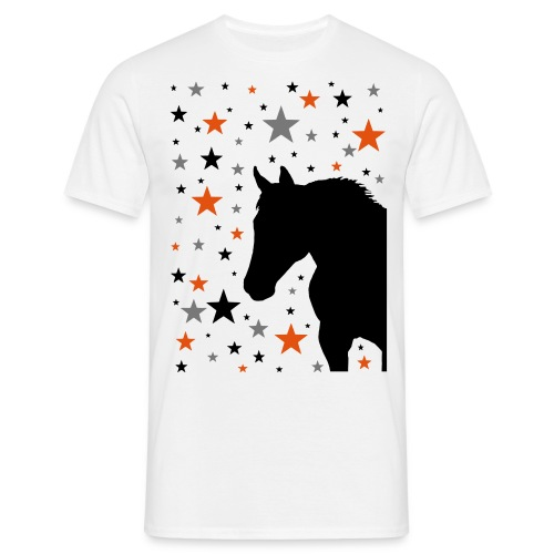 Pferd und Sterne-1 - Männer T-Shirt