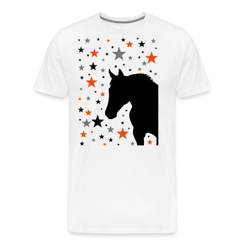 Pferd und Sterne-1 - Männer Premium T-Shirt