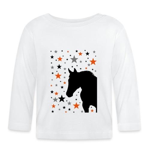 Pferd und Sterne-1 - Baby Langarmshirt