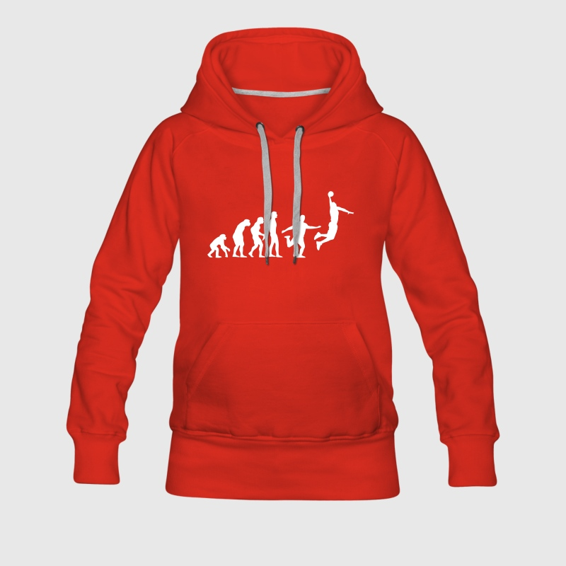 Rouge Basket-ball Evolution Basketball Basket Sweatshirts - Sweat-shirt à capuche Premium pour femmes