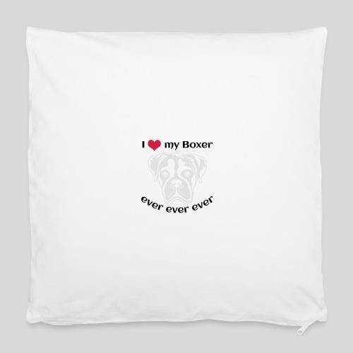 I love my Boxer *hell* nur für dunkle Textilien - Kissenbezug 40 x 40 cm