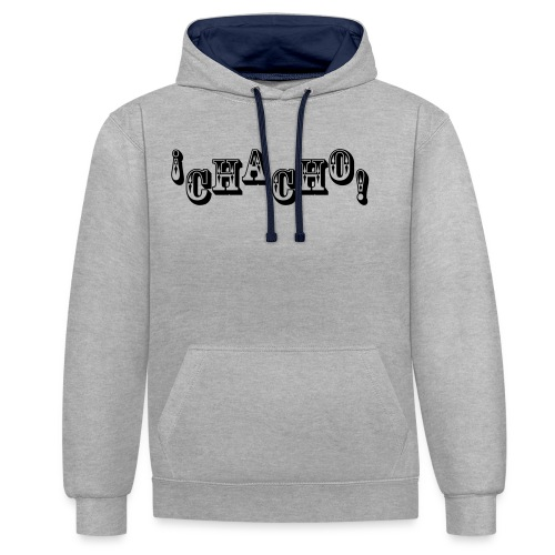 Chacho! white - Contrast hoodie