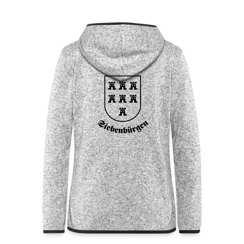 T-Shirt Sachsenwappen Siebenbürgen - Frauen Kapuzen-Fleecejacke
