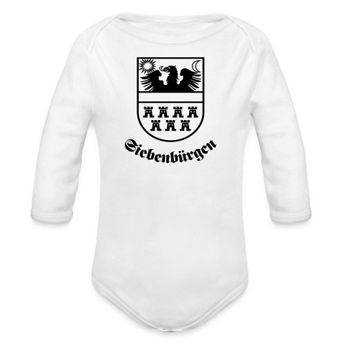 T-Shirt Siebenbürgen-Wappen Siebenbürgen hell - Baby Bio-Langarm-Body
