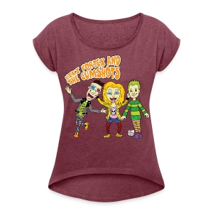 CartoonTee2017 - Women's T-shirt with rolled up sleeves