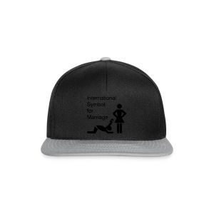 Schwarz International Symbol for Marriage - Hochzeit - Heirat - Wedding - funny - lustig - fun - joke - Spru T-Shirts - Snapback Cap