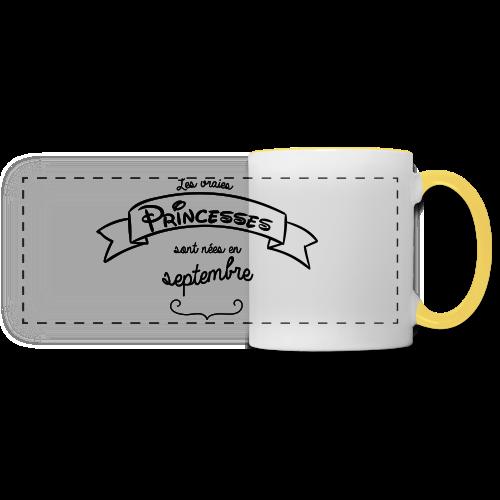Princesse de septembre - Mug panoramique contrasté et blanc