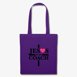 Jesus is my Coach Cross Heart Frauen T-Shirt - Stoffbeutel