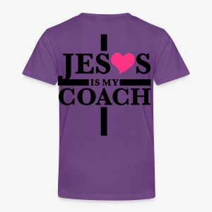 Jesus is my Coach Cross Heart Frauen T-Shirt - Kinder Premium T-Shirt