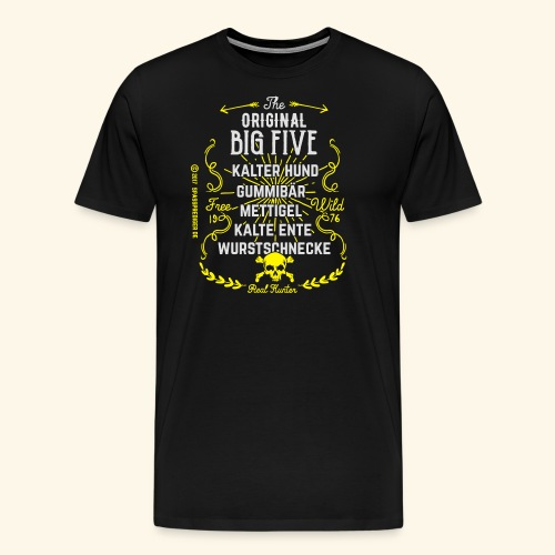 The Original Big Five 23092017 - Männer Premium T-Shirt