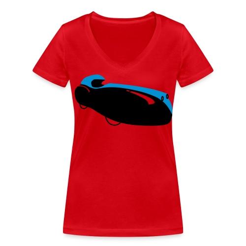 Quattrovelo - Frauen Bio-T-Shirt mit V-Ausschnitt von Stanley & Stella