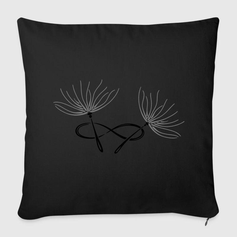 Pusteblumen Samen mit Unendlichkeitsschleife. - Sofakissenbezug 44 x 44 cm