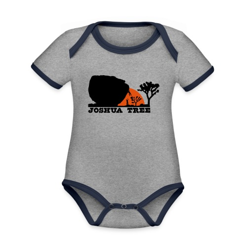 Bouldern in Joshua Tree - Baby Bio-Kurzarm-Kontrastbody