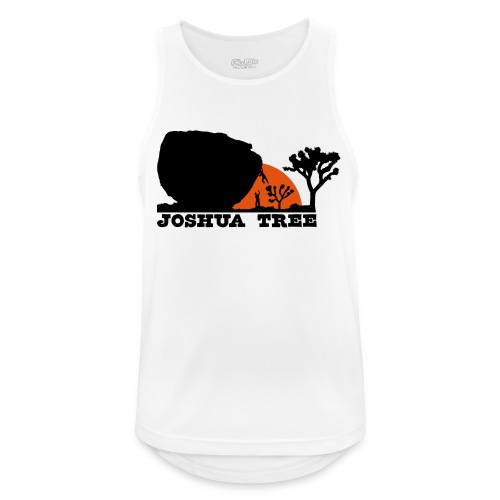 Bouldern in Joshua Tree - Männer Tank Top atmungsaktiv