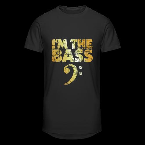 I'm the Bass T-Shirt (Gold) - Männer Urban Longshirt