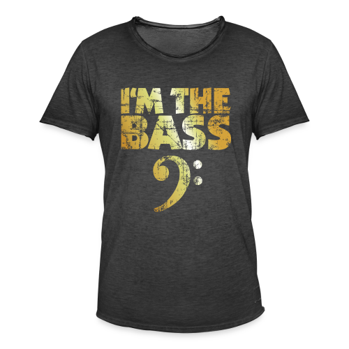 I'm the Bass T-Shirt (Gold) - Männer Vintage T-Shirt